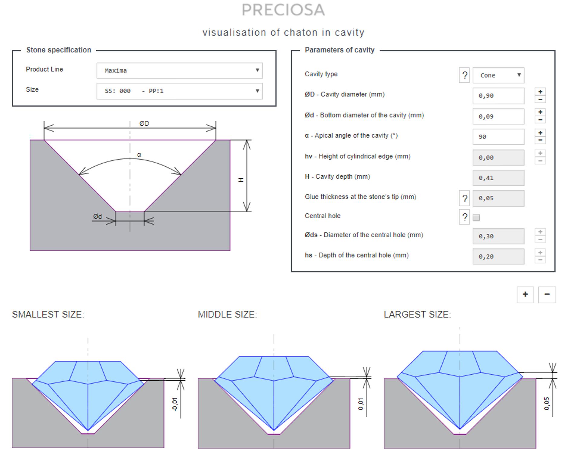 Cover - Visualisation of chaton in cavity for Preciosa